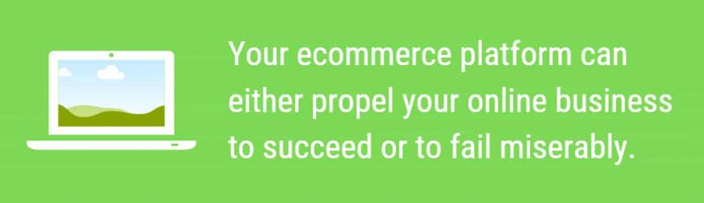Using an ecommerce platform that lacks crucial features