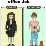 freelancing vs office job