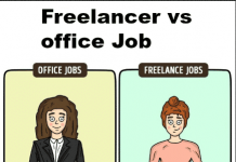 freelancing vs office job