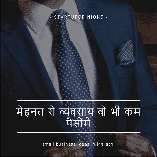 small business ideas in marathi
