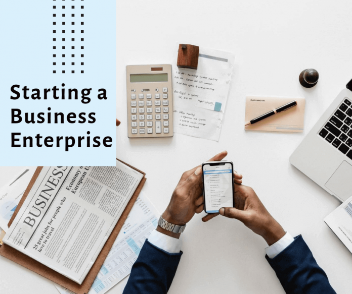 Starting a business enterprise