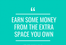 earn some money from the extra space