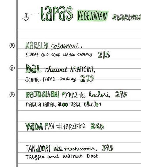 starter food menu