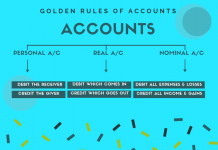 golden rules of accounting