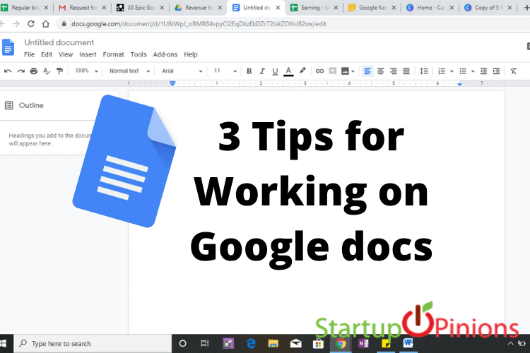 3 Tips for Working on Google docs